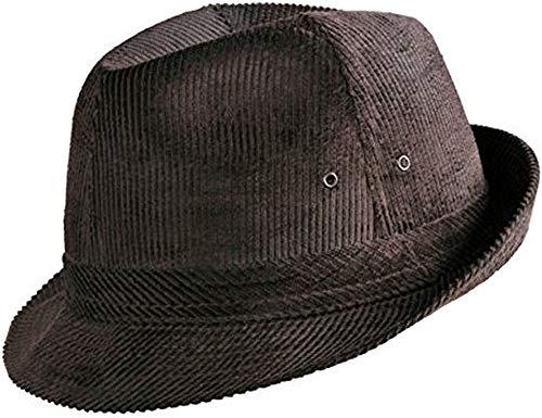 Klassischer Herren Cord - Hut (54, braun)