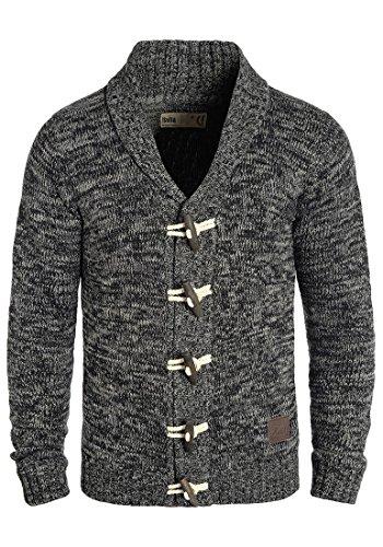 !Solid Prewitt Herren Strickjacke Cardigan Grobstrick Winter Pullover mit Schalkragen, Größe:XL, Farbe:Black (9000)