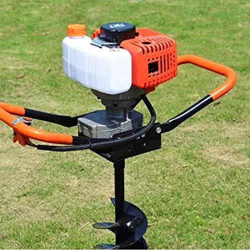 Wangkangyi Taladro de 52 cc de gasolina de 2 mandos, taladro de tierra, taladro de tierra, juego de accionamiento de gasolina, para vallas, taladradora de tierra, para pozos y hielo, incluye