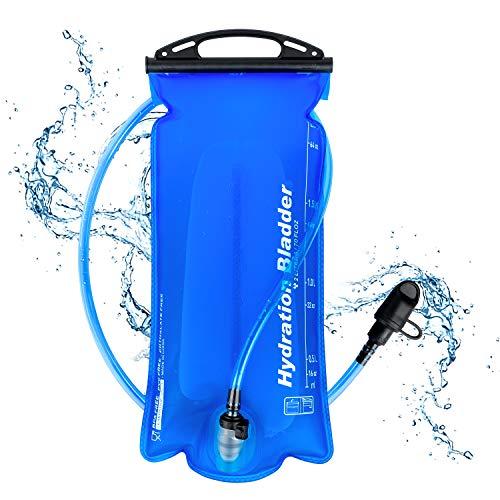 Faneam Multifunción Mochila de Hidratación Ligero,Mochila con Bolsa de Agua 2L,Unisex Mochilas Hidratacion de Trail Running,Bolsa Hidratación para Ciclismo Marathoner Senderismo Camping (Blue)
