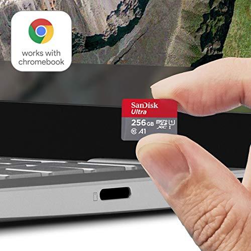 SanDisk Ultra 256GB microSDXC UHS-I-Karte für Chromebook mit SD-Adapter und bis zu 120MB/Sek.