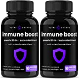 (2 Pack) Immune Support Booster Supplement - Powerful 27-in-1 Immunity Boost Pills with Sambucus Elderberry, Vitamin C, Zinc, Vitamin D3, Echinacea, Ginger, Mushroom & Probiotics - 180 Vegan Capsules