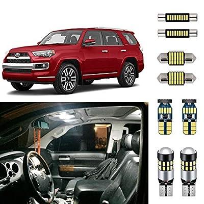 AUTOGINE Super Bright 6000K White LED Interior Light Bulbs Kit Package for 2010-2019 Toyota 4Runner + Install Tool