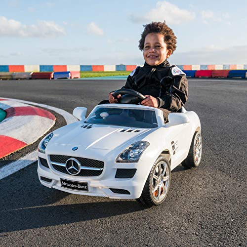 Xootz, Mercedes-Benz Official Licensed Kids Electric Ride On Car with LED Headlights and MP3 Connection, SLS