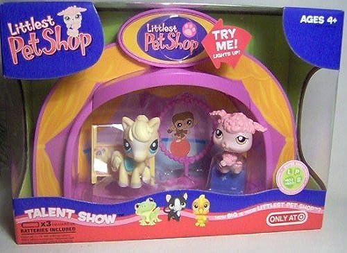 Littlest Pet Shop - Target Exclusive - TALENT SHOW - Super LIGHT-UP Dome Set - mit Pony  402 & Pudel  403 - von 2007 - OVP