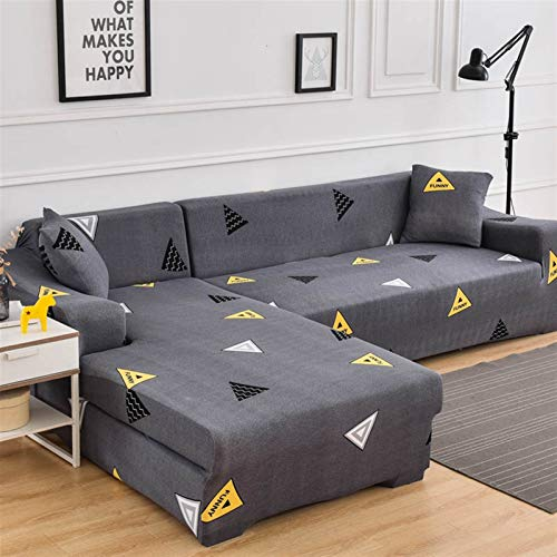 NEWRX Cubierta de sofá con Forma de l Cubierta de sofá de Estiramiento para Sala de Estar Sofá Toalla Sofá Cubierta Chaise Longue Slegal Slipcover 1pc