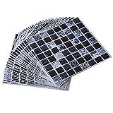 ENCOFT Topmail 24 Pièces Stickers Carrelage Auto-adhésif Imperméable en PVC Design de Carreaux de Ciment Autocollant Mural Décoratif pour Cuisine Salle de Bain (Mosaïque Noir, 20x20cm)