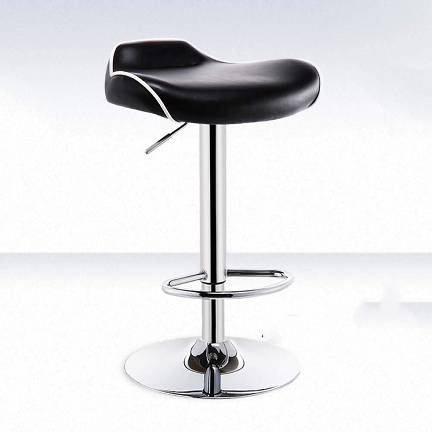 Pu Leather Bar stools, Simple Leisure Nordic Bar Chairs Creative Personality Study Desk Gaming Chair Fashion Swivel Stool-F
