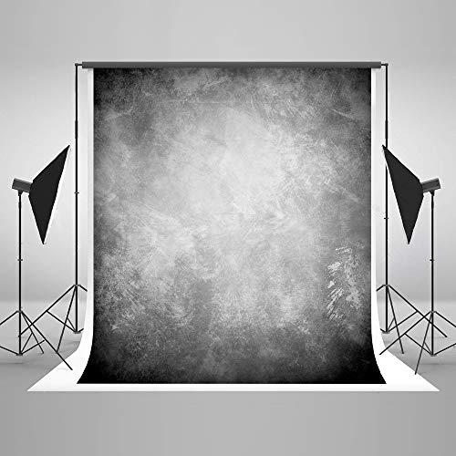 KateHome PHOTOSTUDIOS 2x3m Grau Hintergrund für Fotografen Abstrakt Hintergrund Mikrofaser Klappbar Fotostudios Requisiten Hintergrund