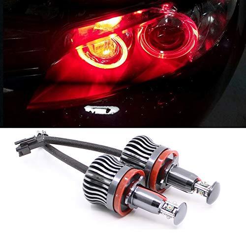 Csslyzl H8 20W RED LED Angel Eyes Headlight Halo Ring Marker Bulbs Compatible with BMW E60 E90 E92 E93 E82 E87 E70 X5 E71 X6 E89 Z4 1 3 5 Series