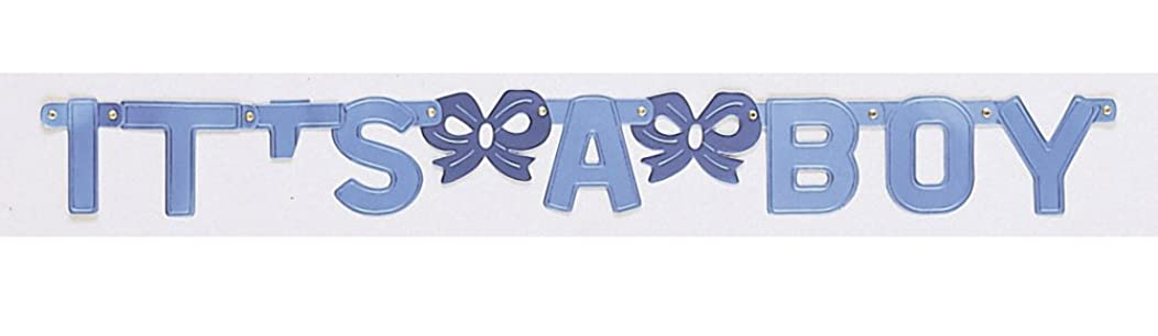 Creative Converting Baby Shower it's a Boy Jointed Banner