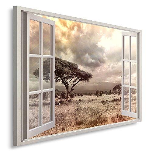 Feeby. Cuadro en lienzo - 1 Parte - 80x120 cm, Imagen impresión Pintura decoración Cuadros de una pieza, ÁRBOL, NATURALEZA, MARRÓN