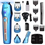 Beard Trimmer Rechargeable Hair Clippers Multi-Purpose Mustache Trimmer Waterproof Nose& Ear Body Trimmer