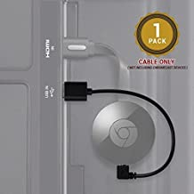HYSWOW Mini USB Power Cable for Chromecast, 8 Inch USB Cable