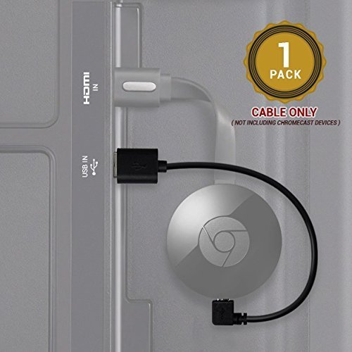 HYSWOW Chromecast Cable USB, Diseñado para TV Stick, Chromecast, Intel Compute Stick HDMI Streaming Media Player Desde su Puerto USB de TV: Amazon.es: Electrónica