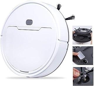 Robot Aspirador, 3 En 1 Anti-ca?da Robot Aspirador Inteligente Alfombras Pisos Duros Completamente Automatico Aspiradora (Color : White)