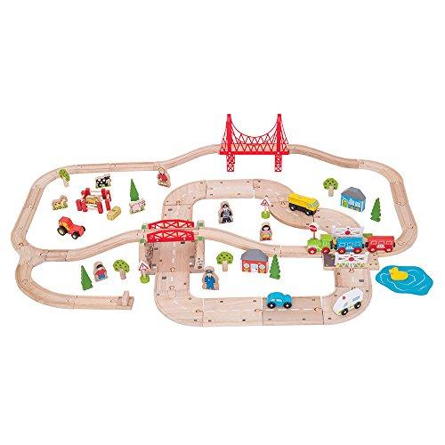 Bigjigs Rail Circuits de Train et de Route ruraux