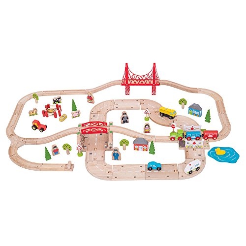 Bigjigs Rail Kit ferrovia e strada rurale