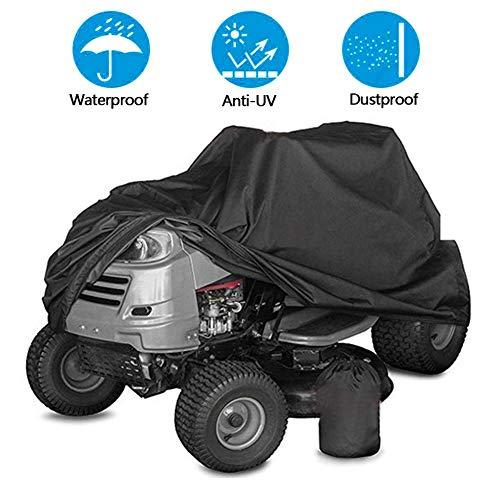Pengyu - Organizador de almacenamiento para el hogar, jardín, césped, cubierta para tractor al aire libre, protección contra rayos UV, impermeable, color negro