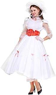 CosplayDiy Women's Costume Dress for Mary Poppins Princess Cosplay