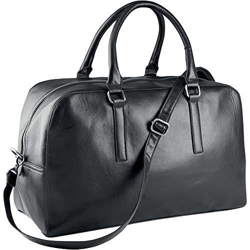 noTrash2003 Reisetasche Gepäck Weekender Bag Kunstleder Zwei versch. Farben Bowling Bag Tasche von notrash2003 (Black)