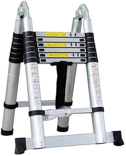 tienda en linea DQMSB Escalera de aleación aleación aleación de Aluminio Escalera telescópica ingeniería Familia Plegable portátil Escalera Recta Escalera de Doble Cara Escalera de Ascensor de Doble Uso Taburete (Tamaño   2.2M+2.2M)  tienda de descuento