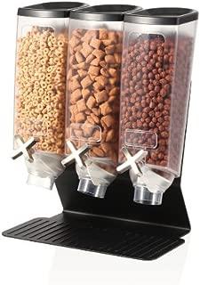 Rosseto Three Container EZ-PRO H3B Snack Dispenser With Black Steel Stand (1 Gallon Each) EZ50399