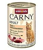 animonda Carny Adult Katzenfutter, Nassfutter für ausgewachsene Katzen, Pute + Hühnchenleber, 6 x 400 g