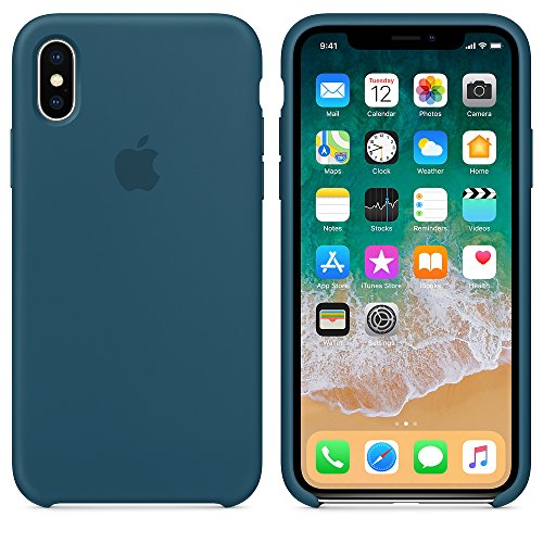 AW 2018 Estate Ultima Custodia in Silicone per iPhoneX (iPhone X, Blu Cosmo)