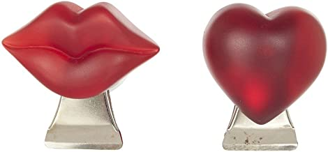 Now & Zen Magnet Clip Heart Clip -A Lovely Love Heart That Will Look Great on Your Fridge-Plastic with Metal Clip