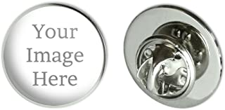 Self-eez(TM) Custom Personalized Small Round Lapel Hat Pin Tie Tack