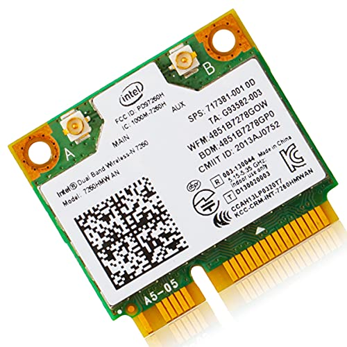 Intel Dual Band Wireless-N 7260 7260HMW AN 無線LAN WiFi ネットワークカード Bluetooth 4.0 [並行輸入品]