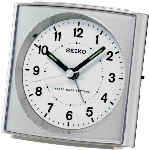 Seiko Wecker, Kunststoff, Rot, 8.6 x 8.6 x 4.6
