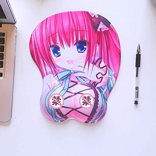 WQMousePad Cojín de ratón muñeca Linda niña Oficina Creativa computadora portátil cojín de Mano Almohadilla de Silicona, K80