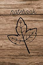 Notebook: Wood Design Nature Journal and Sketchbook For Nature Lovers. Simple nature journal to write, doodle and draw. (110 Pages, Blank, 6 x 9)
