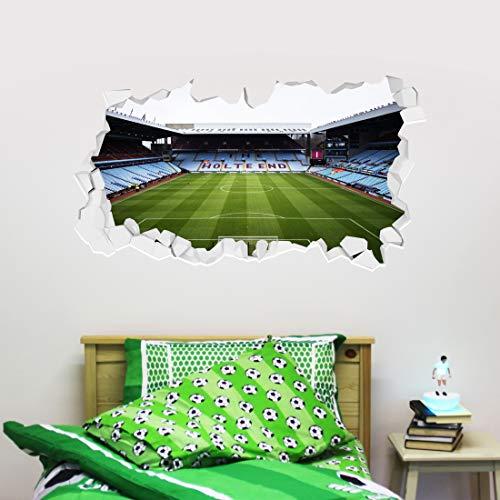 Beautiful Game Aston Villa Football Club Stadium Smashed Wall Sticker + Aston Villa Decal Set Vinyl Print Mural (60cm width x 30cm height)