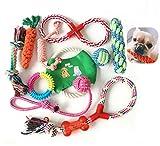 Nifogo Cuerda de Juguete para Perro,Grupo de Juguetes para Perros,Juguete De Cuerda De Algodón,Juguetes para Perros,Juguetes para Masticar,Mejor para Cachorros pequeños y medianos(10 PCS)
