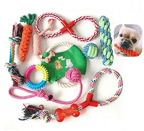 Nifogo Cuerda de Juguete para Perro,Grupo de Juguetes para P