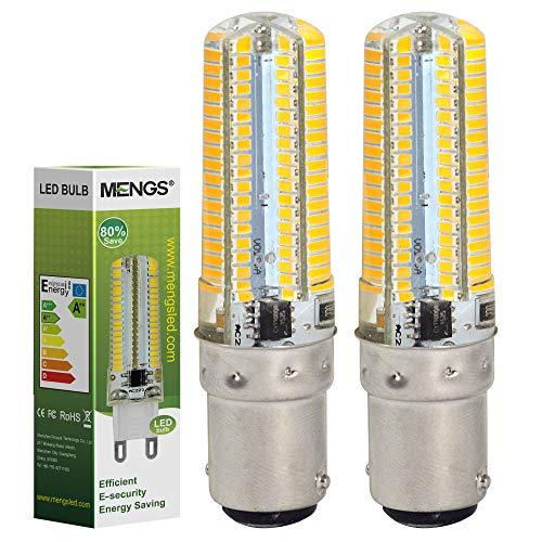 MENGS 2-er Pack B15D 7W LED Lampe 520lm, 3000K warmweiß B15D LED Glühlampe Ersatz 55W B15D Halogenlampe 360° Abstrahlwinkel für Wohnzimmer, Schlafzimmer, Küche, Esszimmer, Büro, Laden, Bad usw