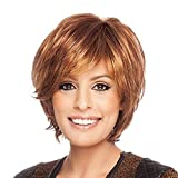 BLONDE UNICORN Short Auburn Hair Wig for Women Side Part Human Hair Wigs Natural Wig for daily life