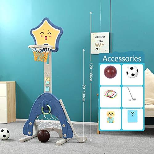 LYXCM Basketballkorb Kinder, Stabiler Und Höhenverstellbar Basketballkorb Mit Ball & Pumpe Für Kinder Und Geeignet