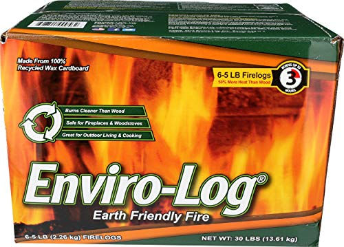 Enviro-Log, Fire Log Case, 80 Ounce, 6 Pack