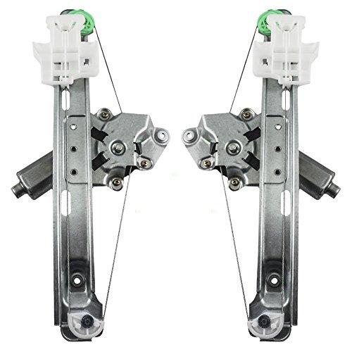 Replacement Set Rear Power Window Regulators with Lift Motors Compatible with 2004-2005 Malibu & Malibu Maxx 15270573 15270572