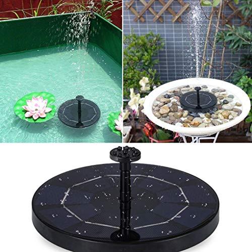 Zonne-energie Vogelbad- fontein Water drijvend Kleine vijver Tuin Patio-decoratie Fontein Waterpomp Tuin Vijver Besproeiingspomp