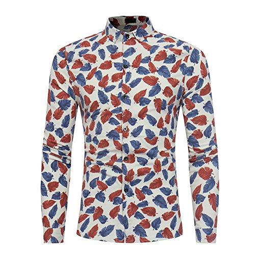 Camisa casual de los hombres de manga larga camisa de los ho