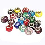 Contever® 100 Multicolor Abalorios de Lampwork cristal perlas para Pulseras de Joyería Pulseras y Collares