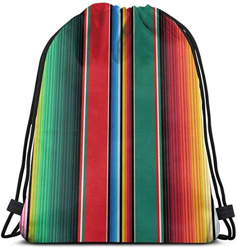 Funny Z Alfombra Mexicana Serape Stripes The Arts Mochila con Cordón Mochila...