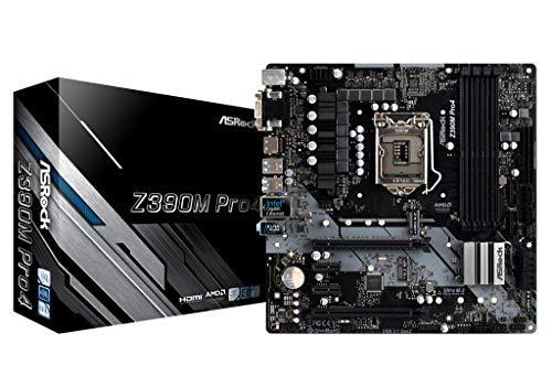 ASRock Z390M PRO4 Mainboard, Socket 1151, Micro ATX Motherboard, saphirschwarz.