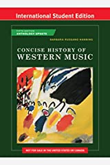 Concise History of Western Music 5th International Student Edition Anthology Update + Reg Card Paperback