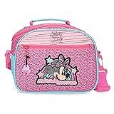 Disney Minnie Pink Vibes Neceser Adaptable con Bandolera Rosa 25x19x10 cms Poliéster